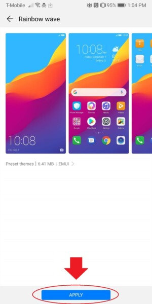 huawei themes store how to change themes screenshot