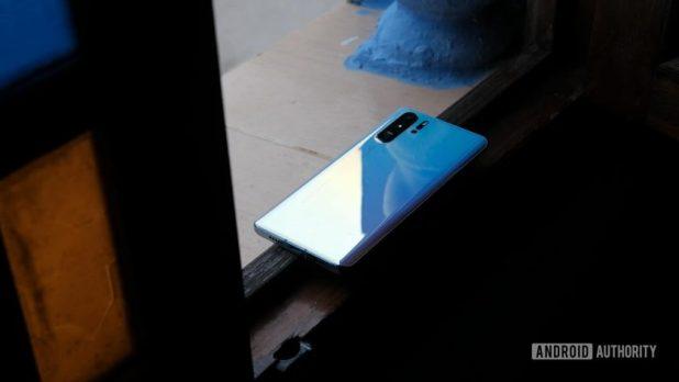 Huawei P30 Pro back on windowsill