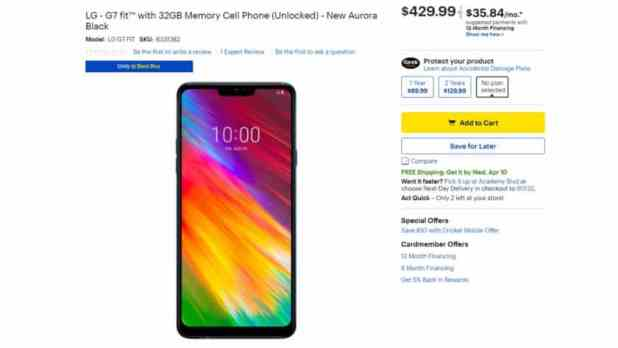 The LG G7 Fit now available at Best Buy.