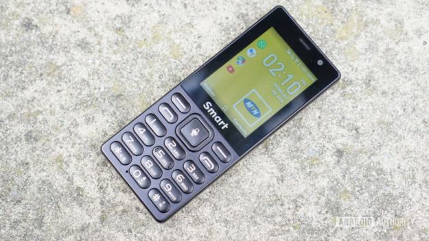 The MTN Smart S KaiOS phone, showing the home screen.