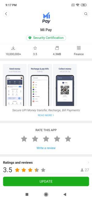 Mi App Store Mi Pay