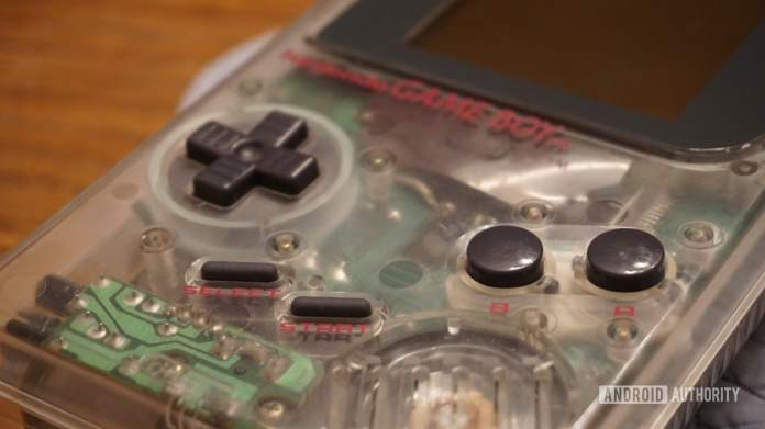 Picture of a modded Nintendo Game Boy.