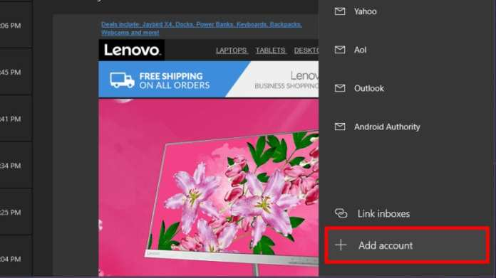 Windows 10 Mail Add 2nd Account