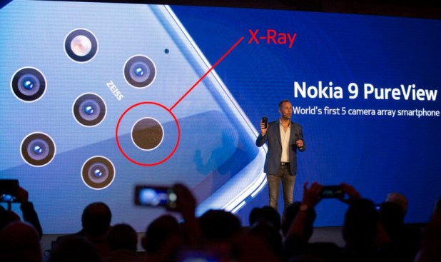 The X-Ray sensor on the Nokia 9 PureView