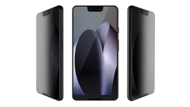 Privacy screen protector on Google Pixel 3 XL - privacy screen protectors