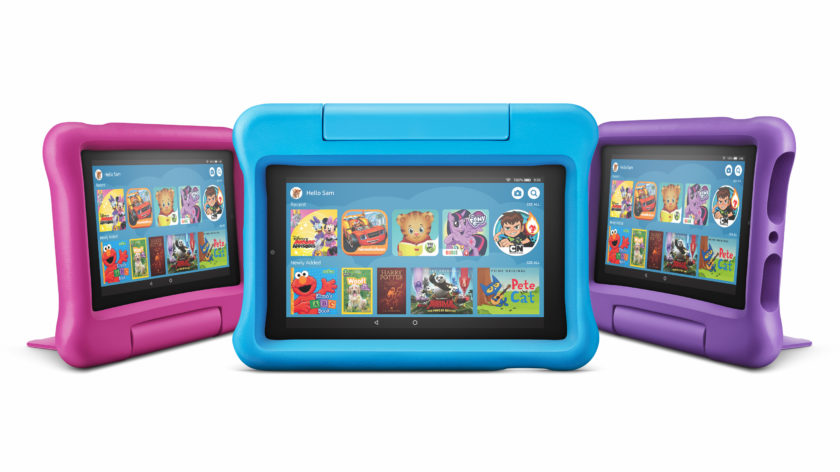 Press render of the Amazon Fire 7 Kids Edition (2019).