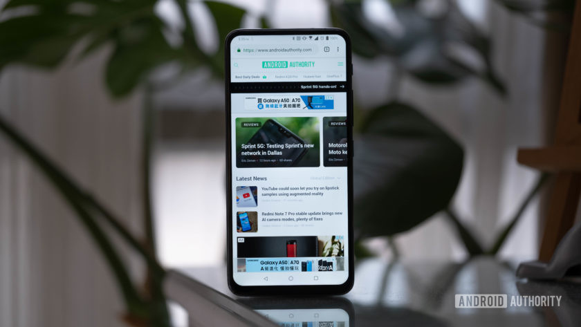 Asus Zenfone 6 - screen upright