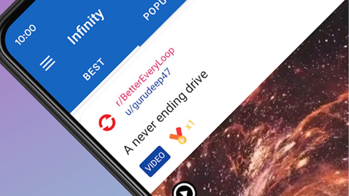 Бесконечность лучшие приложения Reddit для Android