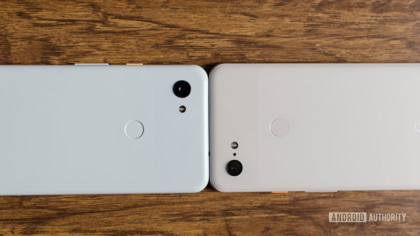 Pixel 3 XL vs Pixel 3a XL showing the camera modules