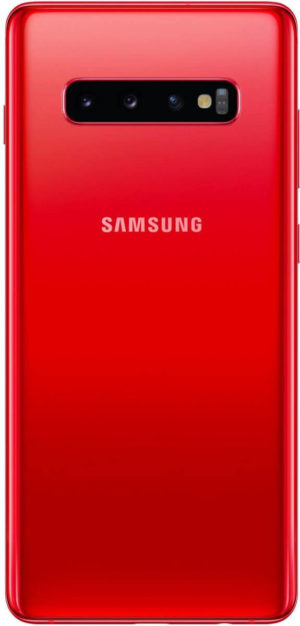 A leaked render of the Samsung Galaxy S10 Plus in a new color known as Cardinal Red.