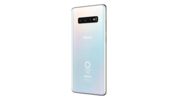 Press render of the Olympic Games Edition of the Samsung Galaxy S10 Plus.