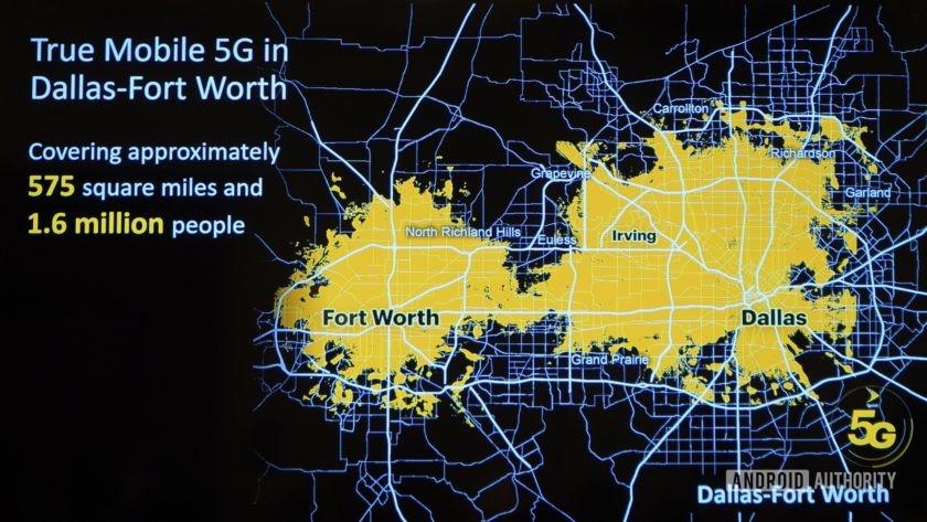 Sprint 5G Launch Dallas covergae