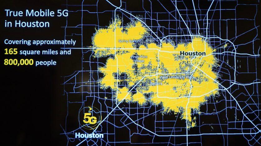 Sprint 5G Launch Houston coverage