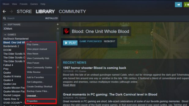 Steam Game Properties - How to uninstall games on Windows 10