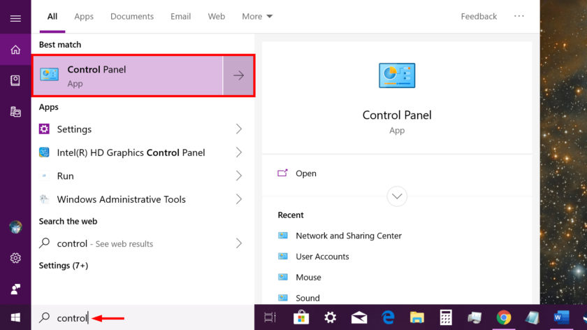 Windows 10 Control Panel Cortana - How to find Control Panel in Windows 10