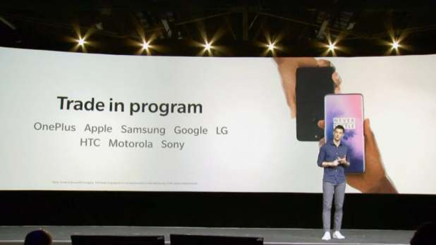 oneplus trade in program announced on stage