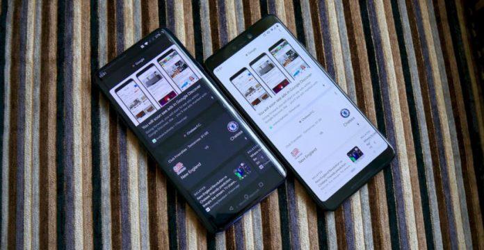 OnePlus 7 Pro vs Google Pixel 3 XL Google Discover feed