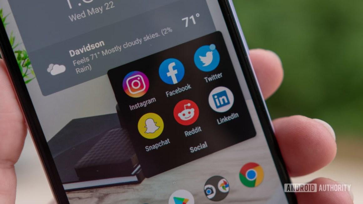 Логотип Facebook, Twitter, Instagram, Reddit, LinkedIn и Snapchat
