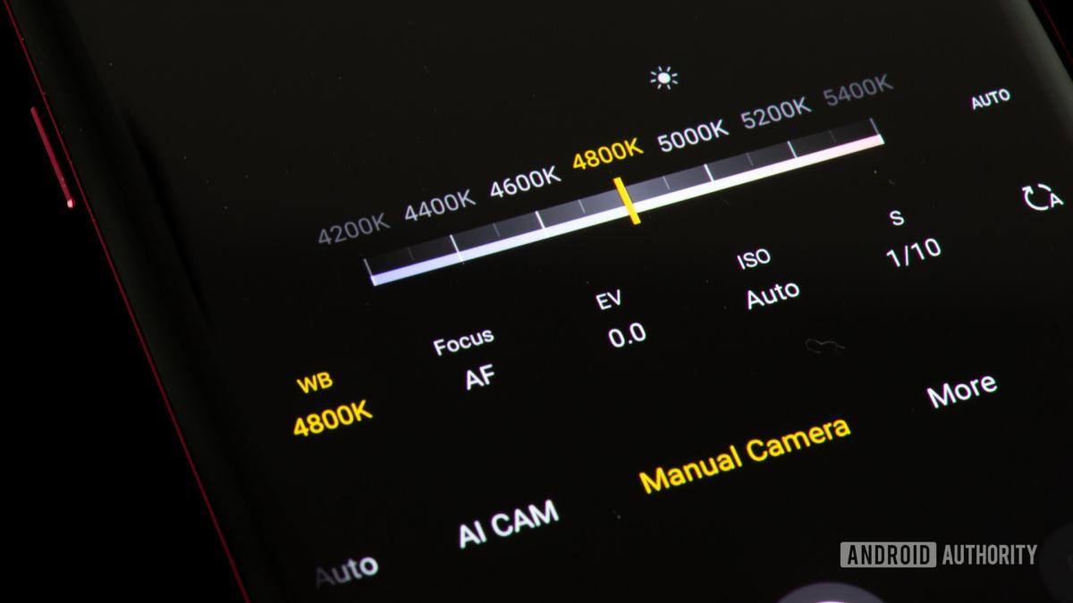 Настройки баланса белого на камере в ручном режиме.