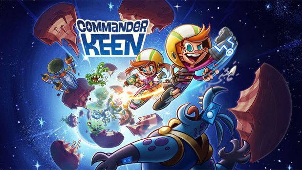 Cover art for the Commander Keen mobile game from E3 2019