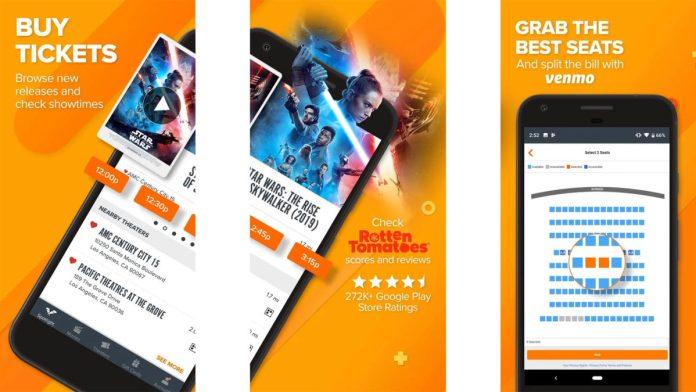 Fandango screenshot 2019 best movie apps