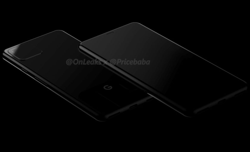 Leaked renders of what is supposedly the Google Pixel 4.