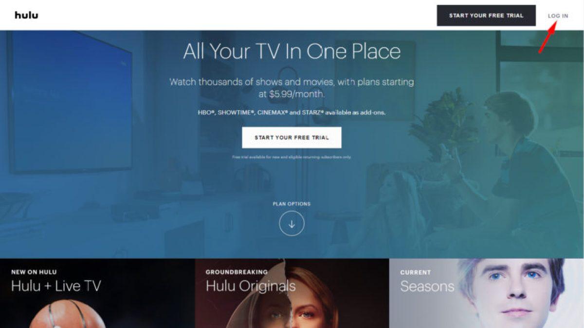 Hulu Войдите в систему, чтобы изменить свой пароль