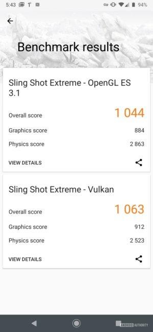 Motorola Moto Z4 3D Mark Total results