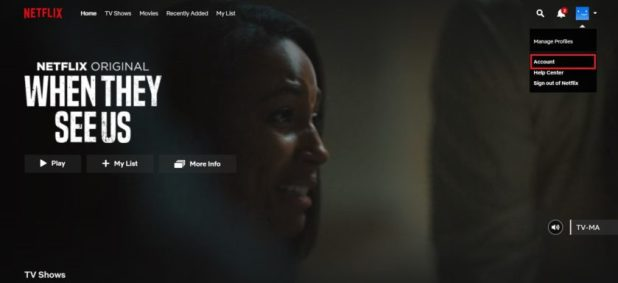Netflix history delete