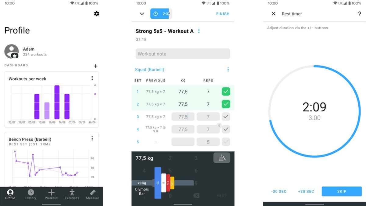 Strong Workout Tracker Gym Log screenshot 2019