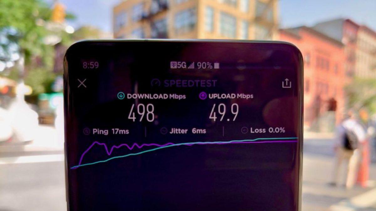Teste de velocidade de revisão 4 do T-Mobile 5G
