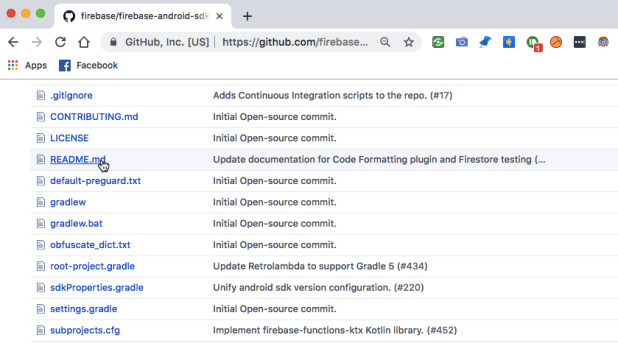 Most GitHub projects feature a README.md file