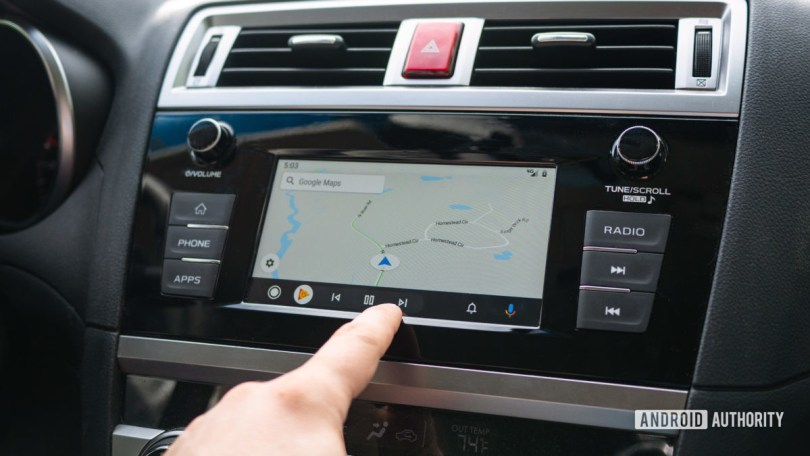 Android Auto Redesign interacting with maps