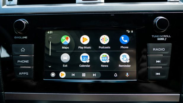 Android Auto Redesign main interface