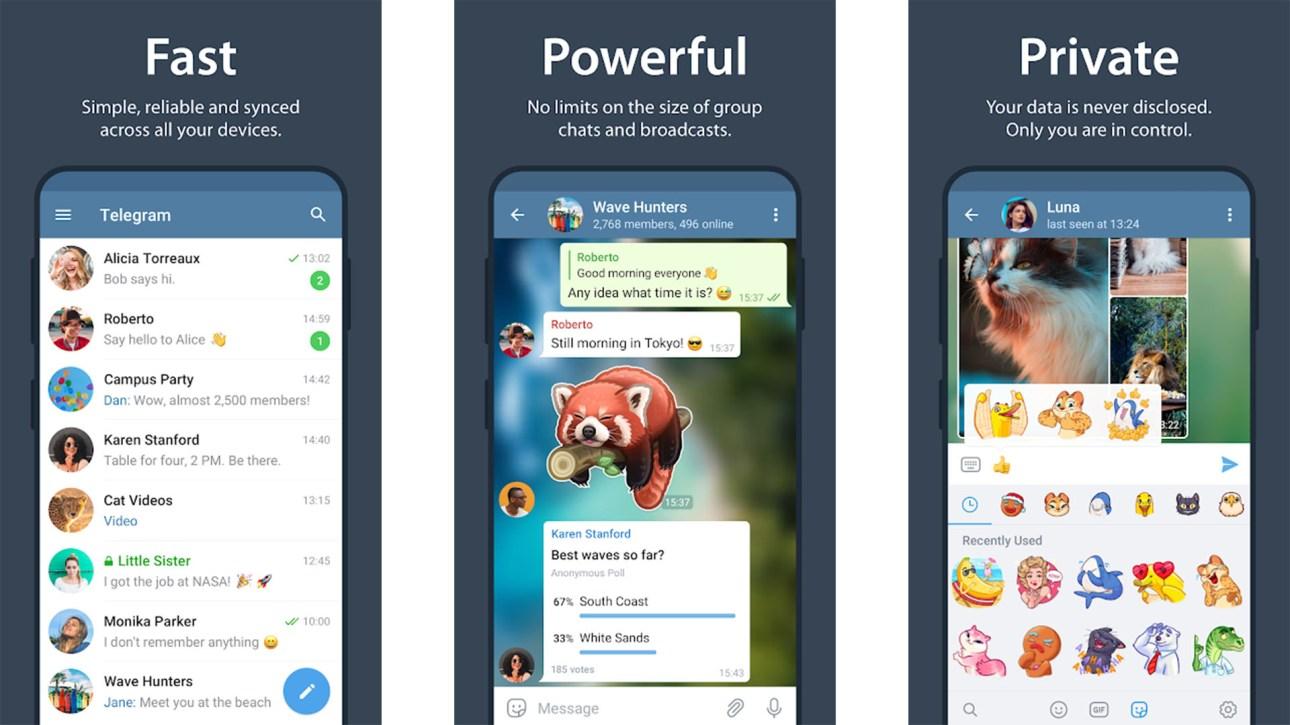 Скриншот Telegram лучших мессенджеров