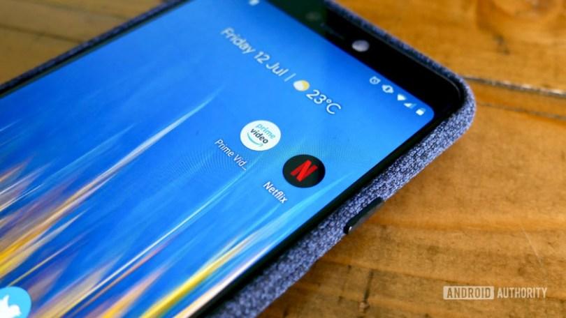 Amazon Prime Video vs Netflix - apps on Pixel 3 XL phone