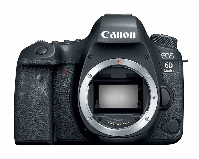 Canon EOS 6D Mark II front side without lens.