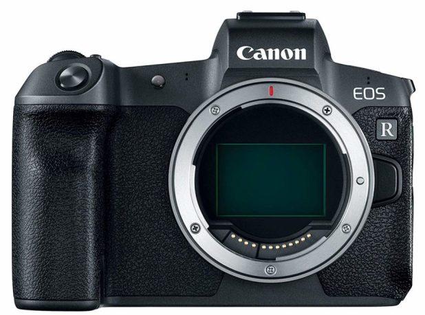 Canon EOS R front showing sensor