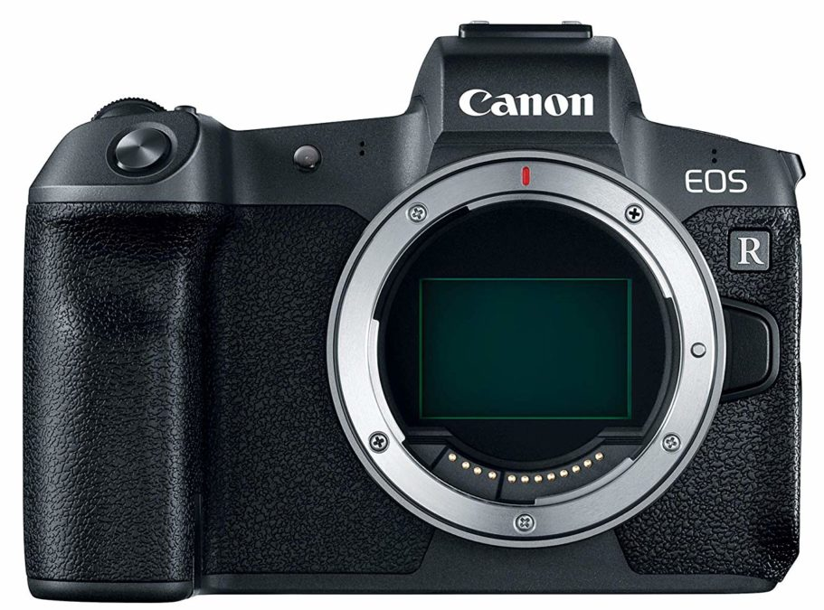 Canon EOS R front showing sensor