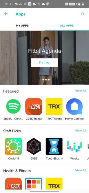 Аккаунт Fitbit Spotify