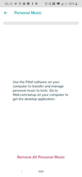Музыкальные сервисы Fitbit персональная музыка