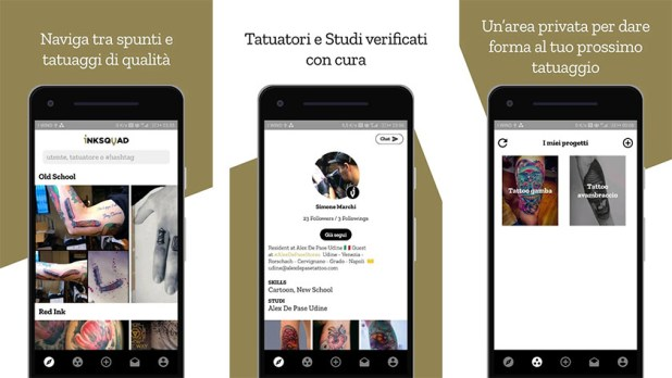 Inksquad is one of the best tattoo apps for android