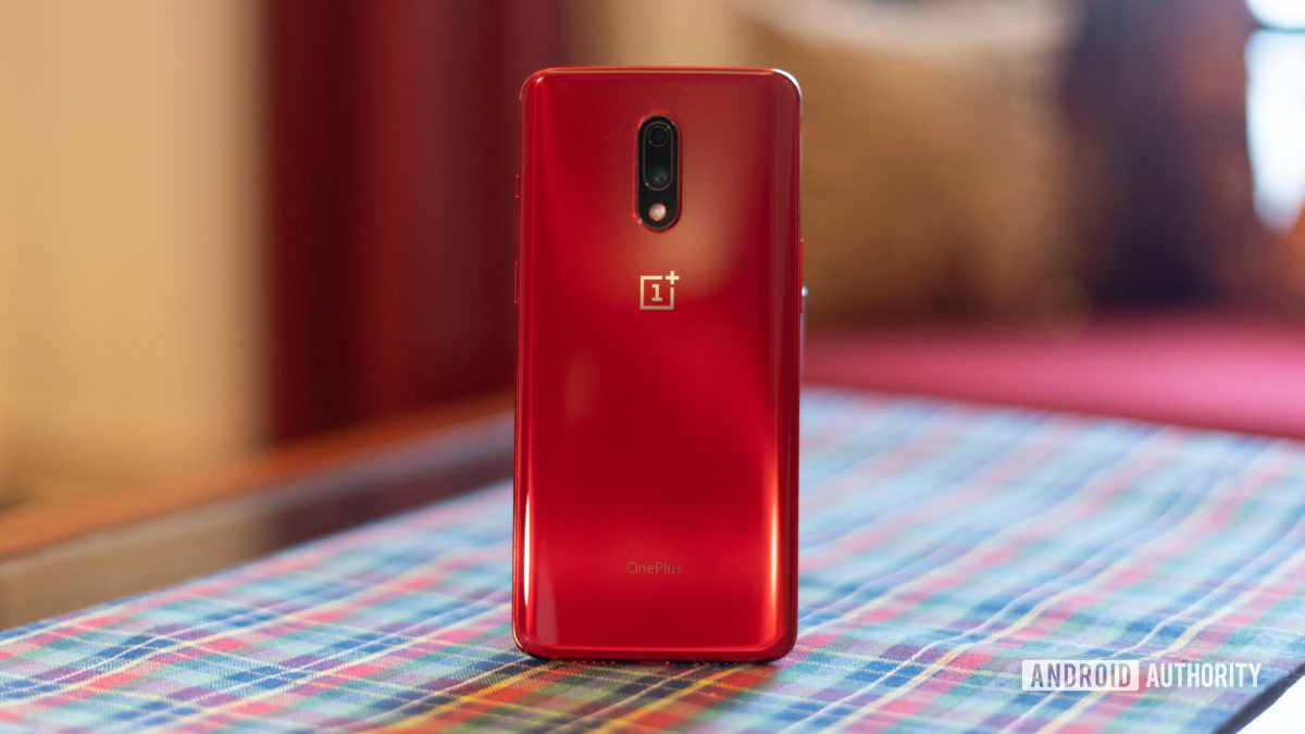 OnePlus 7 red rear panel