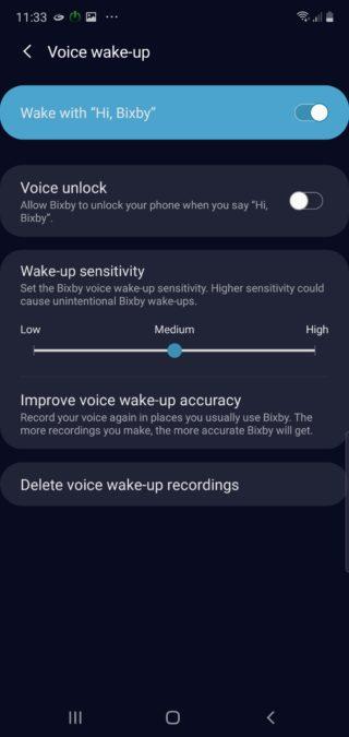 Голосовая разблокировка Samsung Bixby Voice при пробуждении