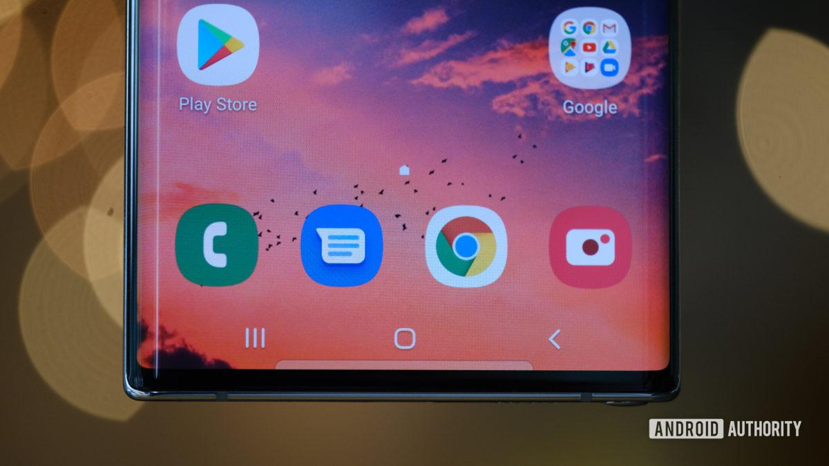 Макрос нижней половины экрана Samsung Galaxy Note 10 Plus