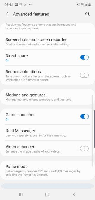 Samsung Note 10 расширенные функции настройки скриншотов