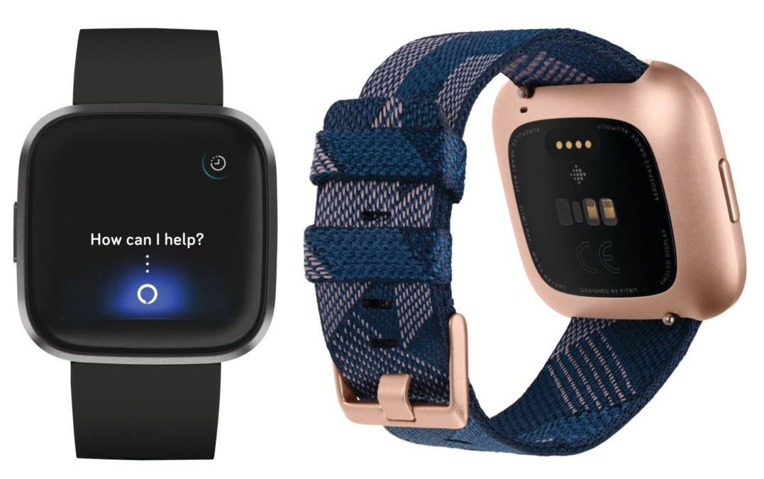 New Fitbit Versa Smartwatch displays two units next to each other.