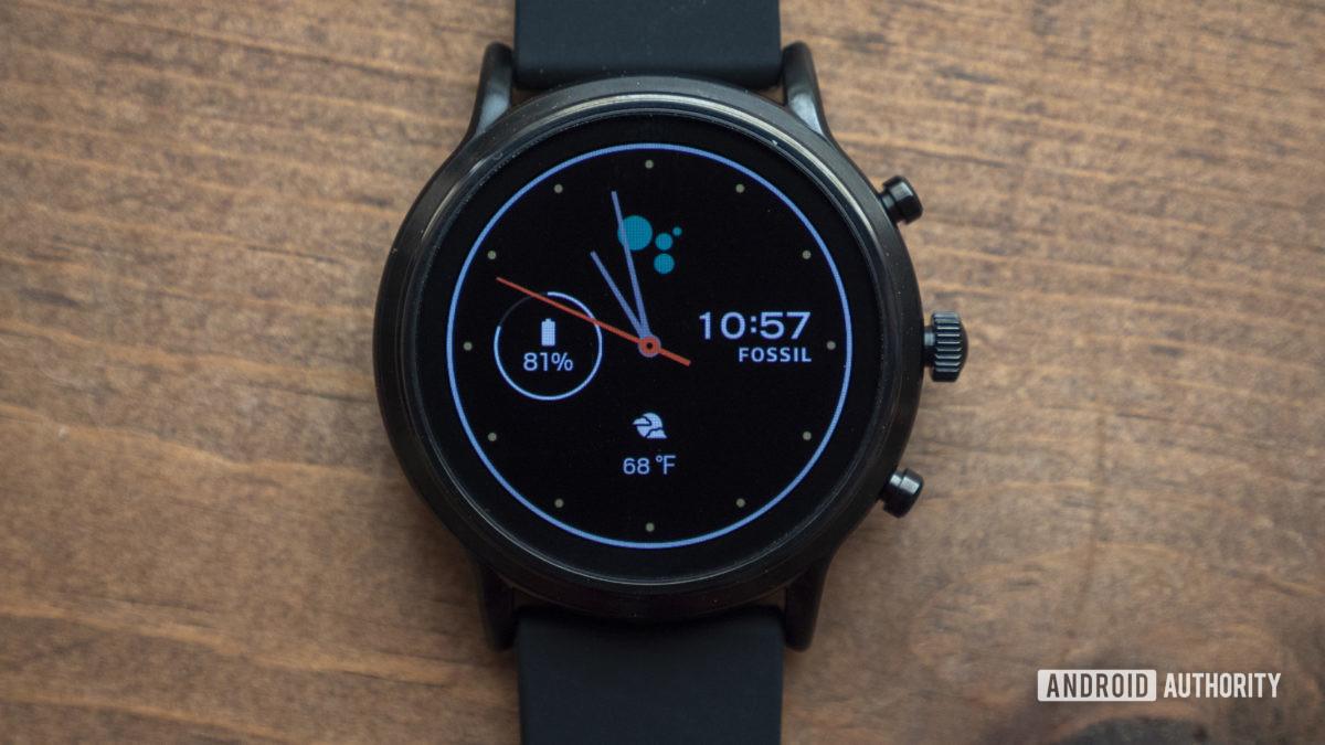 fóssil gen 5 revisão smartwatch mostrador do relógio 5