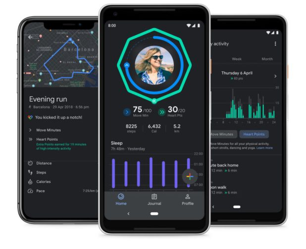 google fit dark mode sleep charts