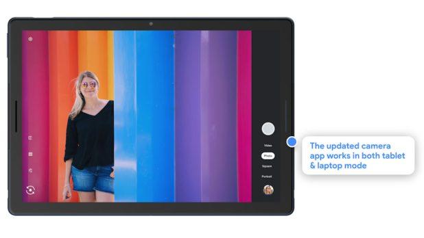 Portrait mode on a Chrome OS tablet.